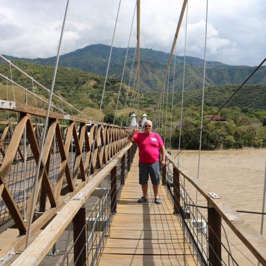 My uncle on the bridge